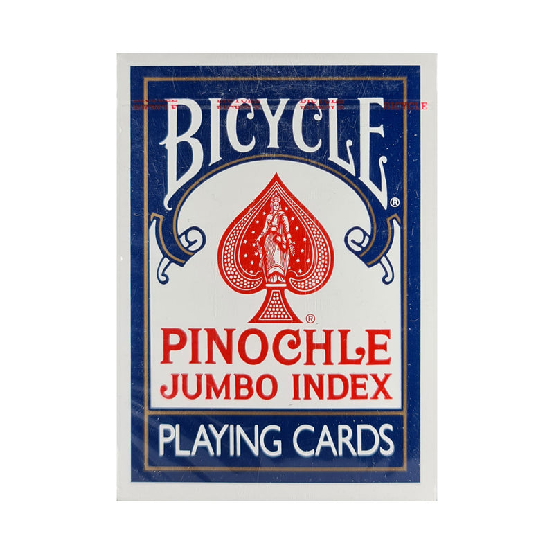 Bicycle Pinochle Jumbo Index Blue Playing Cards