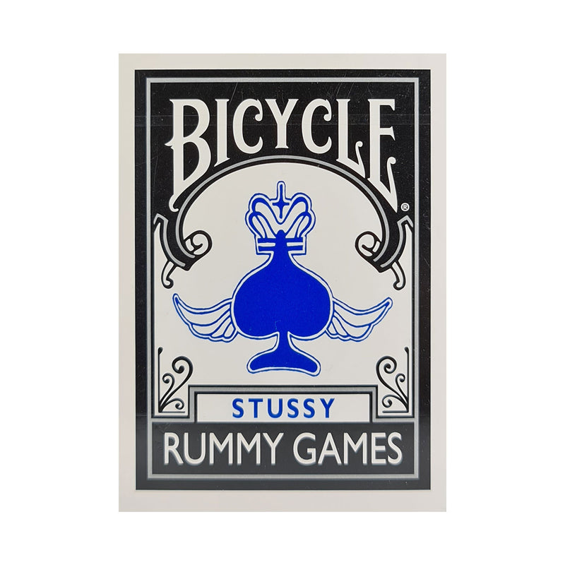 Bicycle Stussy Rummy Games Blue Playing Cards