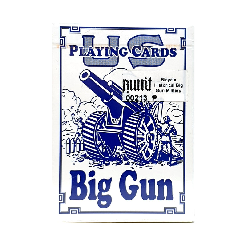 Bicycle Historic Military Gun (Blue) Playing Cards