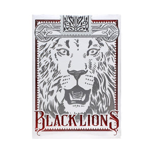 Black Lions Red Playing Cards