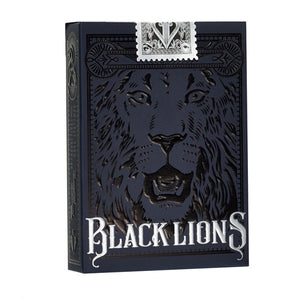 Black Lions Playing Cards