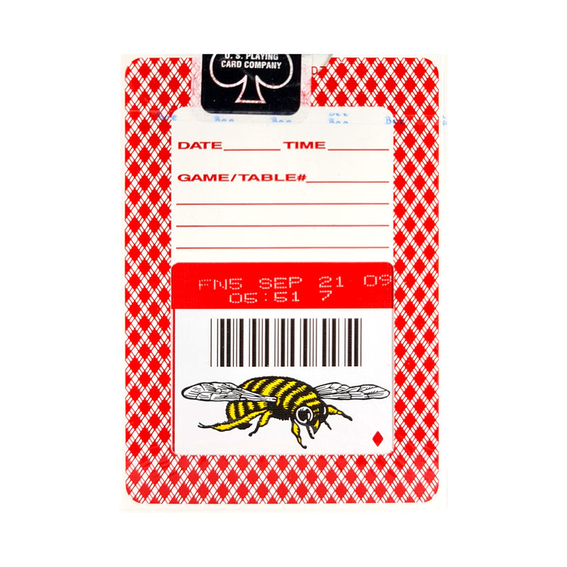 Bee Bumble Red (Ohio) Playing Cards