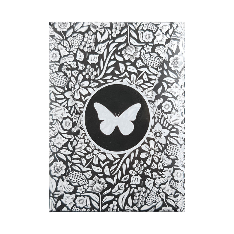 Butterfly Black and White (Unmarked) Playing Cards