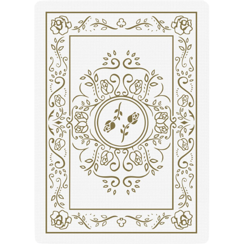 Black Roses White Gold Edition Playing Cards