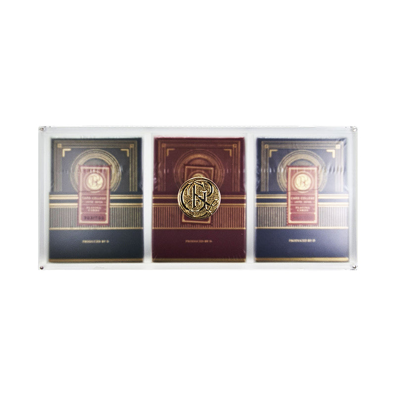 Card College Luxury Acrylic Box Set Playing Cards