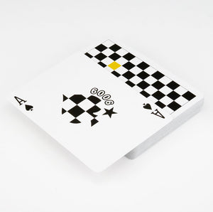 Checkerboard Yellow Playing Cards