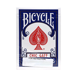 Bicycle Chic Gaff Blue Playing Cards (Instructions and Gimmick)