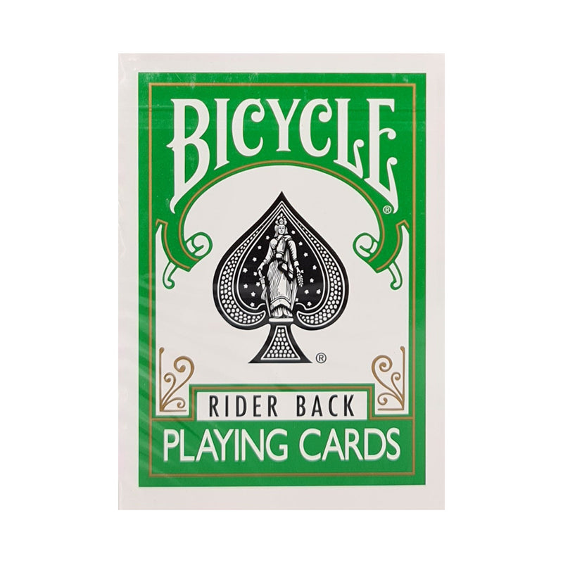 Bicycle Colored Rider Back Green Playing Cards