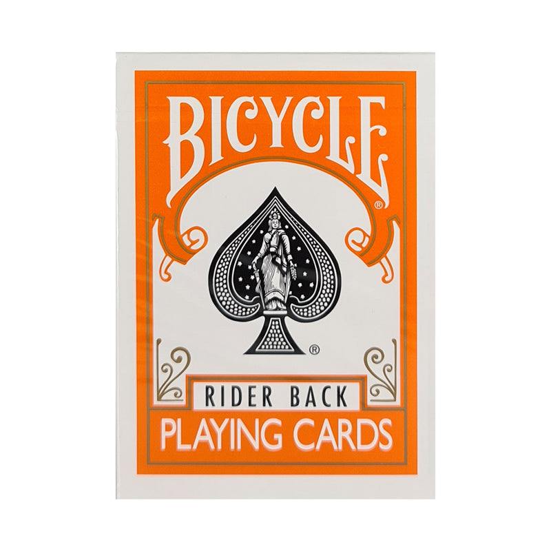 Bicycle Colored Rider Back Orange Playing Cards