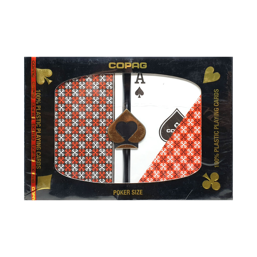Copag Poker Size Plastic Master Playing Cards (2 Decks)