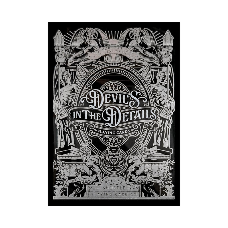 Devil's in the Details Sinful Silver Playing Cards