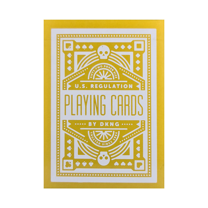DKNG Yellow Wheels Playing Cards