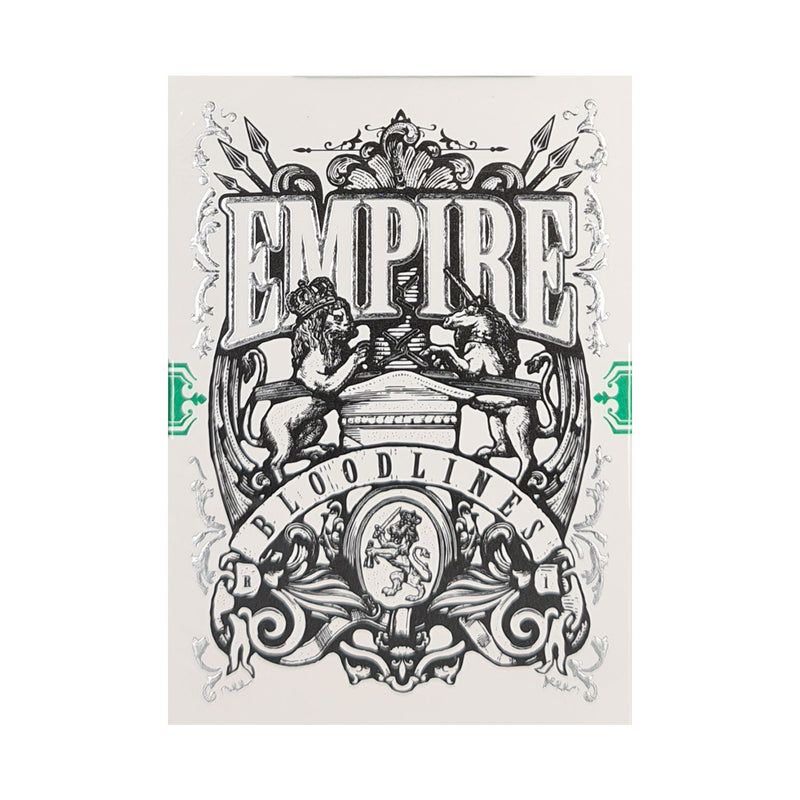 Empire Bloodlines Green Playing Cards