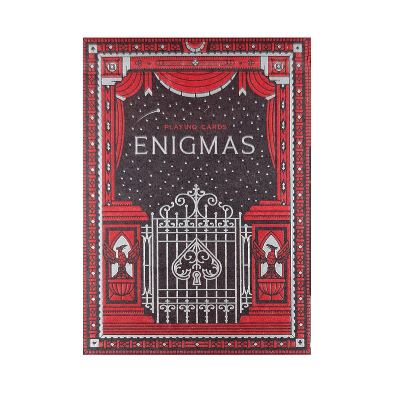 Enigmas Puzzle Hunt Red Playing Cards