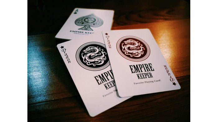 Empire Keeper Red Playing Cards