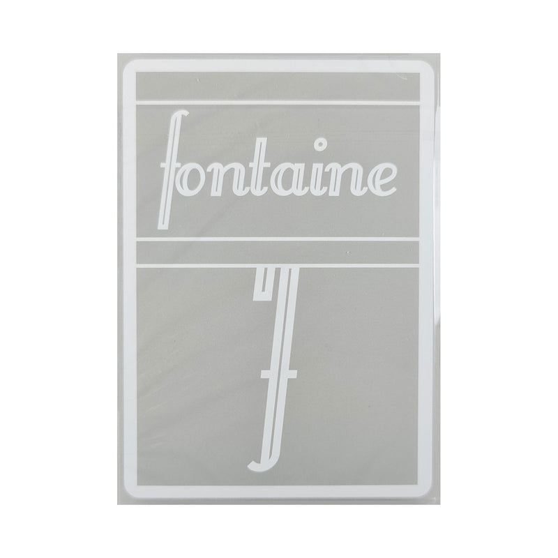 Fontaine Gray Playing Cards