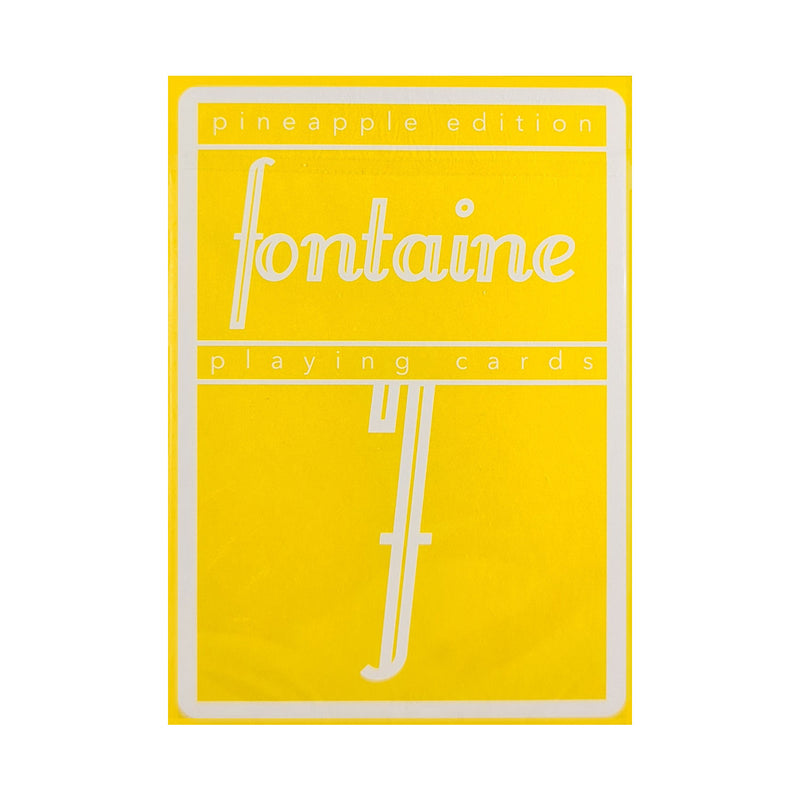 Fontaine Pineapple Playing Cards