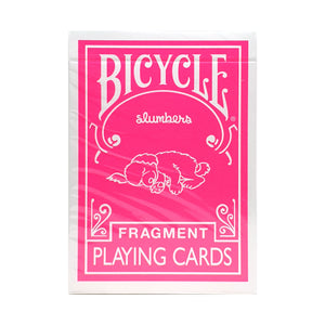 Bicycle Fragment Pink Playing Cards