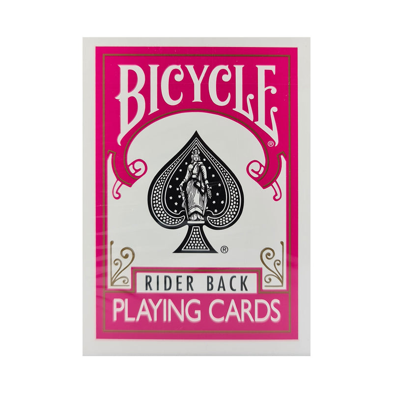 Bicycle Colored Rider Back Fuchsia Playing Cards