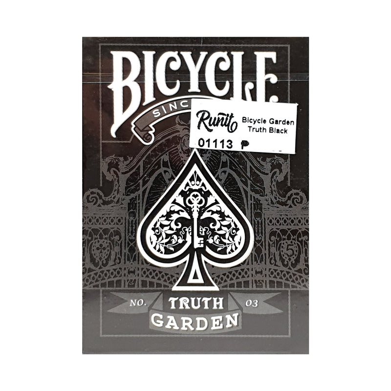 Bicycle Garden Truth Black Playing Cards