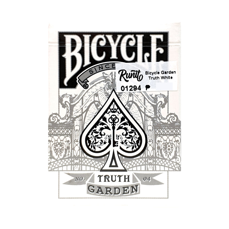 Bicycle Garden Truth White Playing Cards