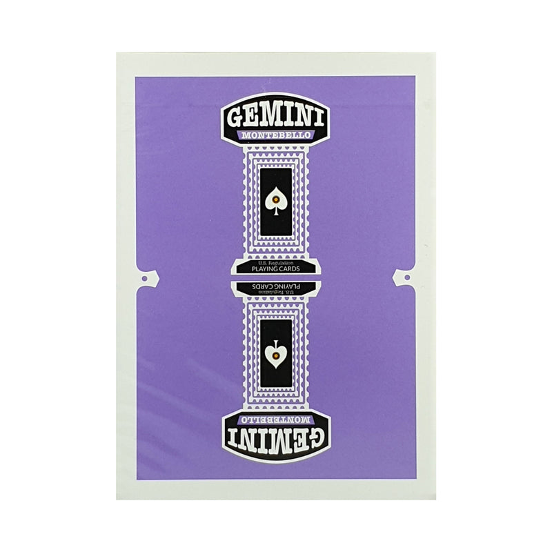 Gemini Purple Playing Cards