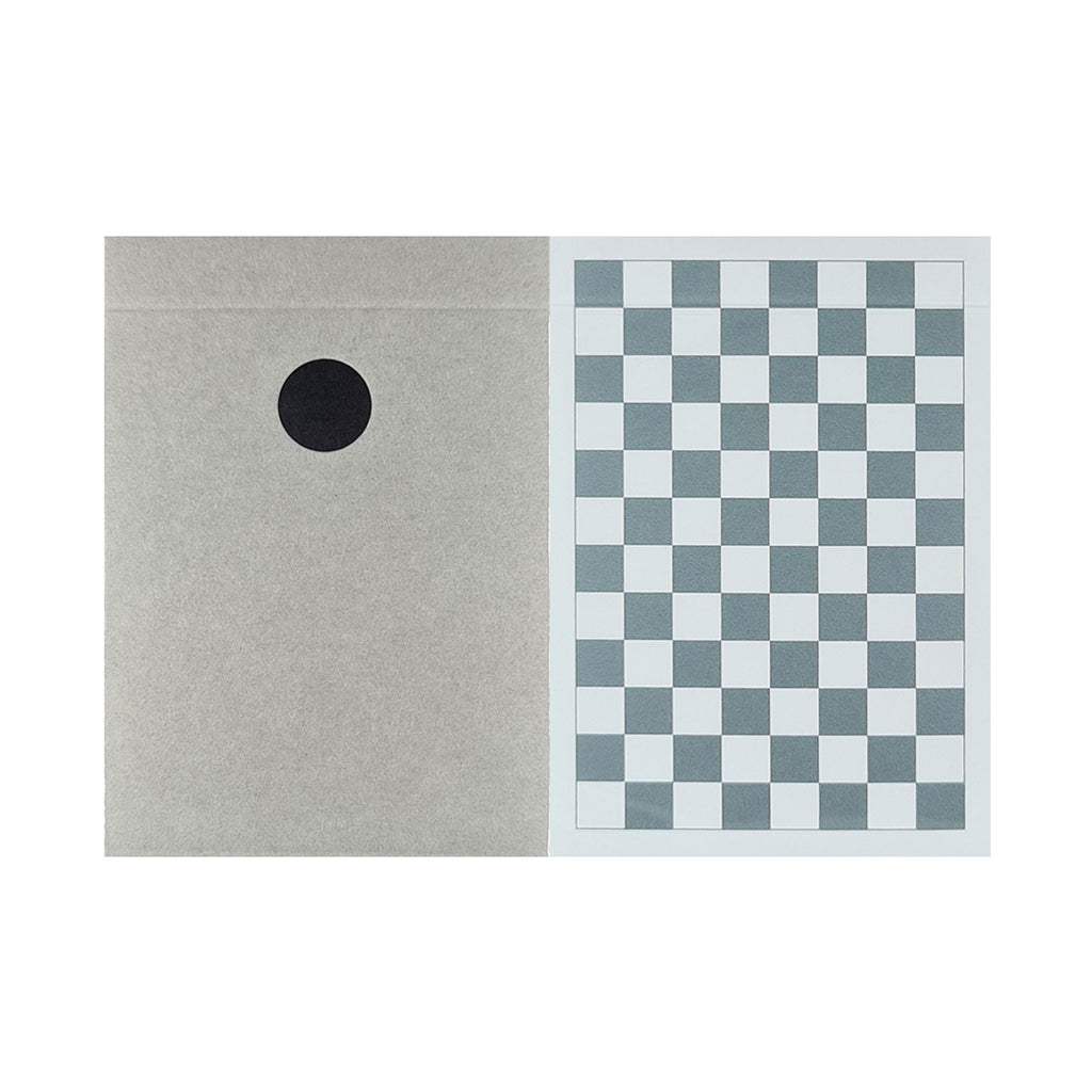 Dot Black + Grey Checkerboard Playing Cards