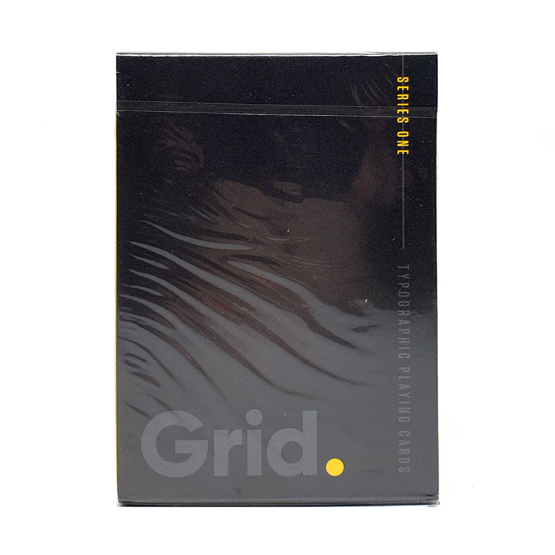 Grid Typographic v1 Playing Cards