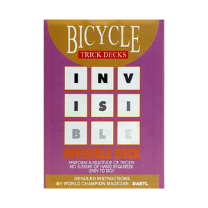 Bicycle Invisible Deck Rider Back