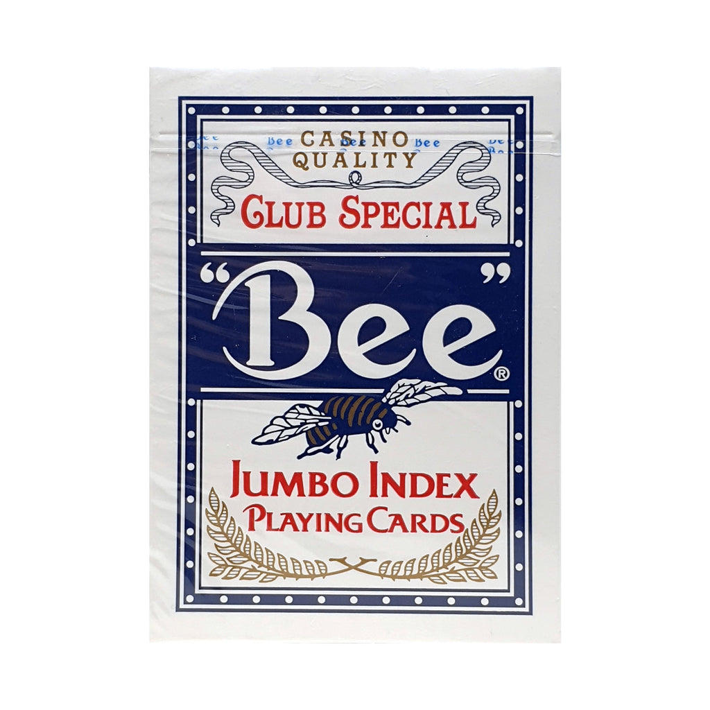 Bee Jumbo Index Blue Playing Cards