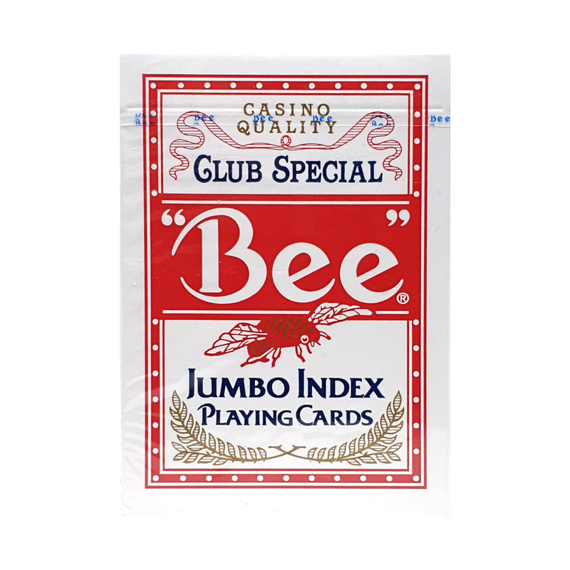 Bee Jumbo Index Red Playing Cards