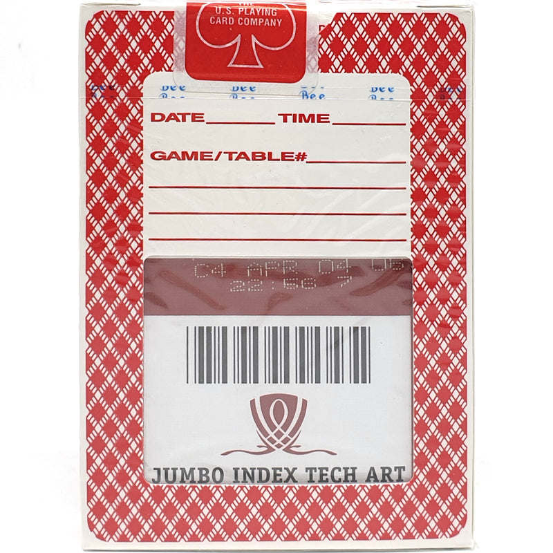 Bee Wynn Jumbo Index Red Playing Cards