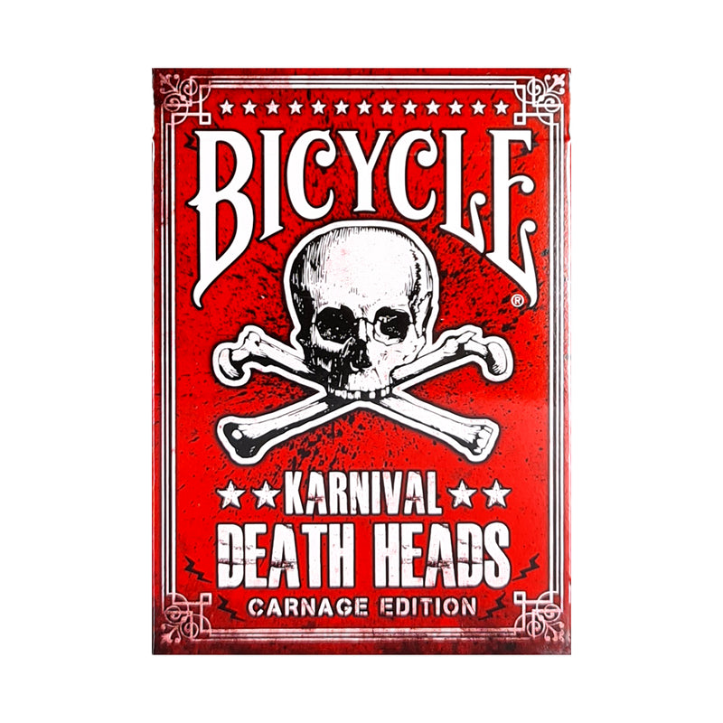 Bicycle Karnival Death Heads Carnage Edition Playing Cards