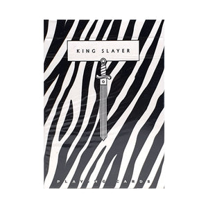 King Slayer Zebra Playing Cards