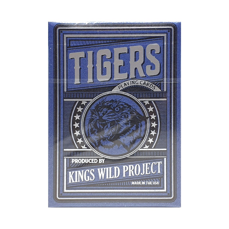Tigers Gilded Edition Blue Playing Cards