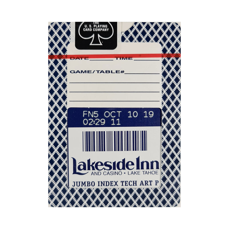 Bee Lakeside Casino and Inn Blue Playing Cards
