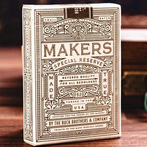 Makers White Gold Edition Playing Cards