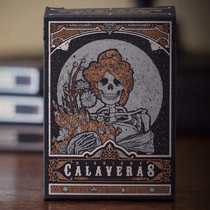 Calaveras Midnight Playing Cards