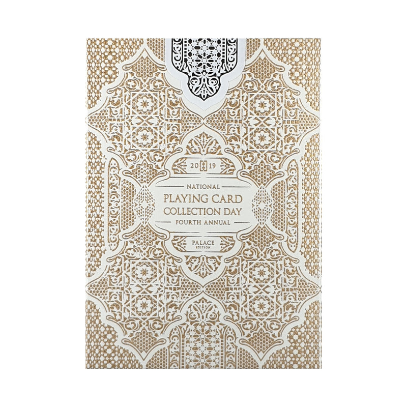 National Card Collection Day 2019 Gate White/Gold Playing Cards