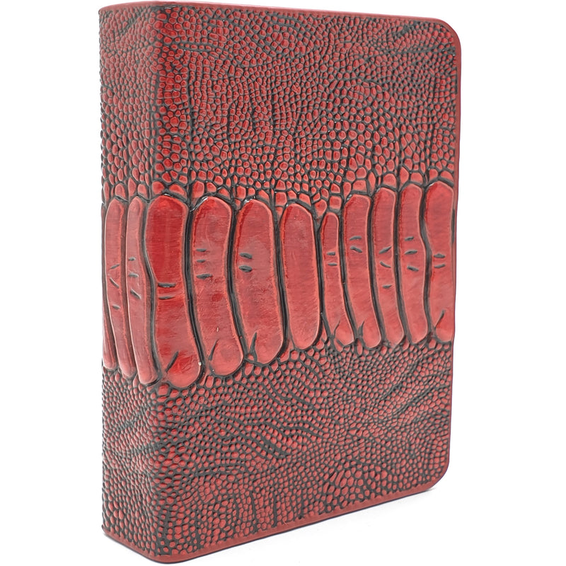 Card Clip Leather Ostrich Foot