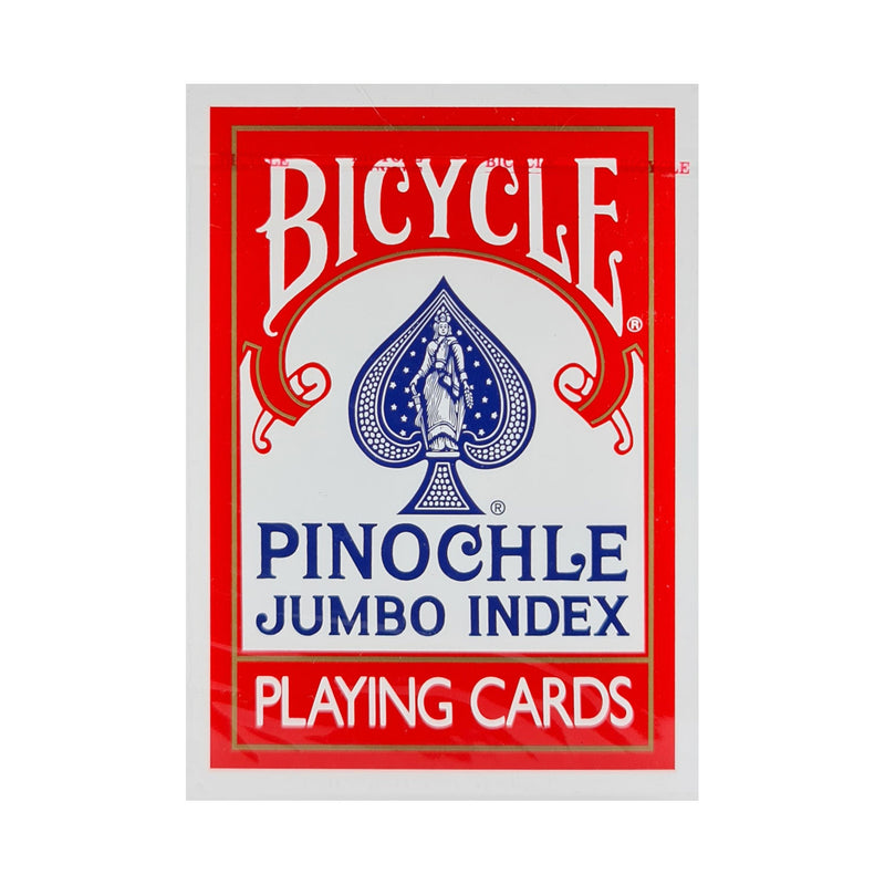 Bicycle Pinochle Jumbo Index Red Playing Cards