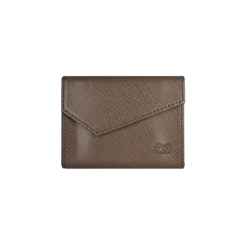Playing Card Leather Bag Brown