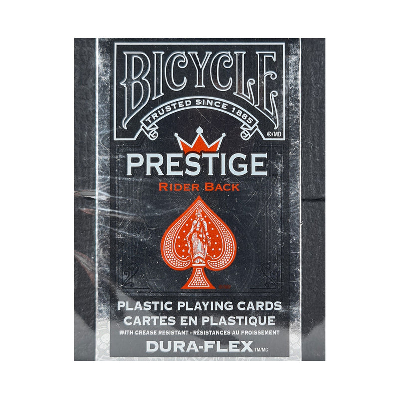 Bicycle Prestige Rider Back (Plastic) Red Playing Cards