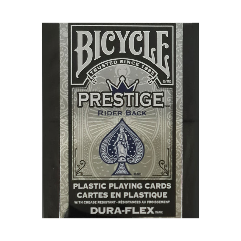 Bicycle Prestige Rider Back (Plastic) Blue Playing Cards