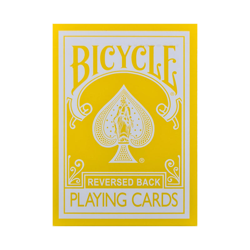 Bicycle Reversed Back Yellow Playing Cards