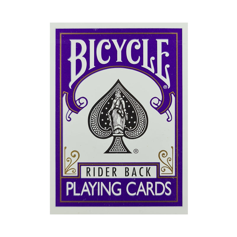 Bicycle Colored Rider Back Violet Playing Cards