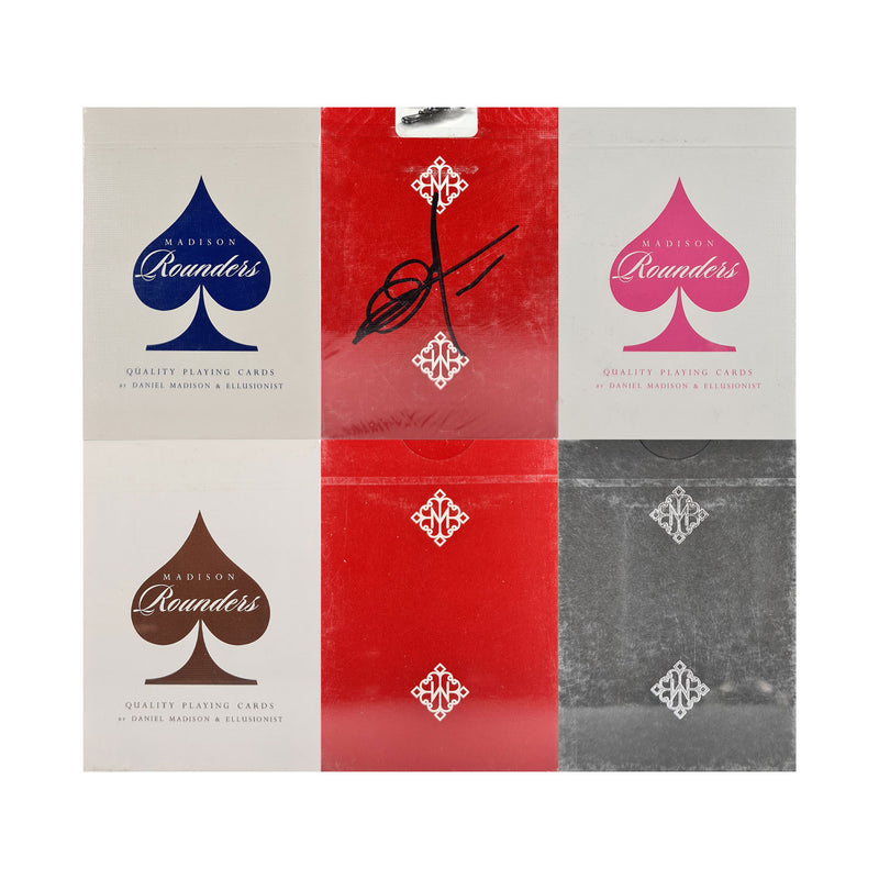 Madison Rounders Set (6 Decks) Playing Cards