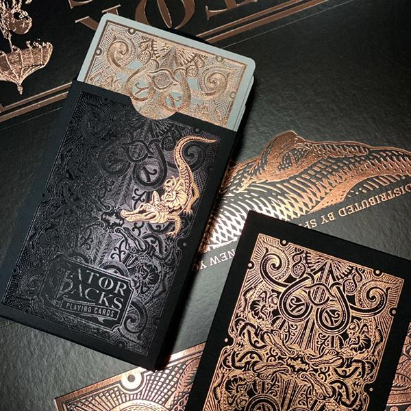 Gatorbacks Rose Gold Playing Cards