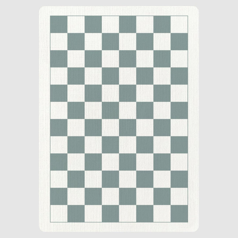 Checkerboard Grey Playing Cards