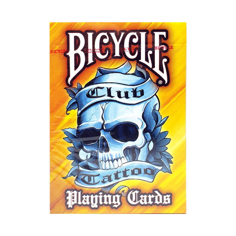 Bicycle Club Tattoo Orange Playing Cards